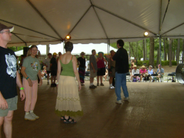 Klezmer dancing at the Florida Folk Festival